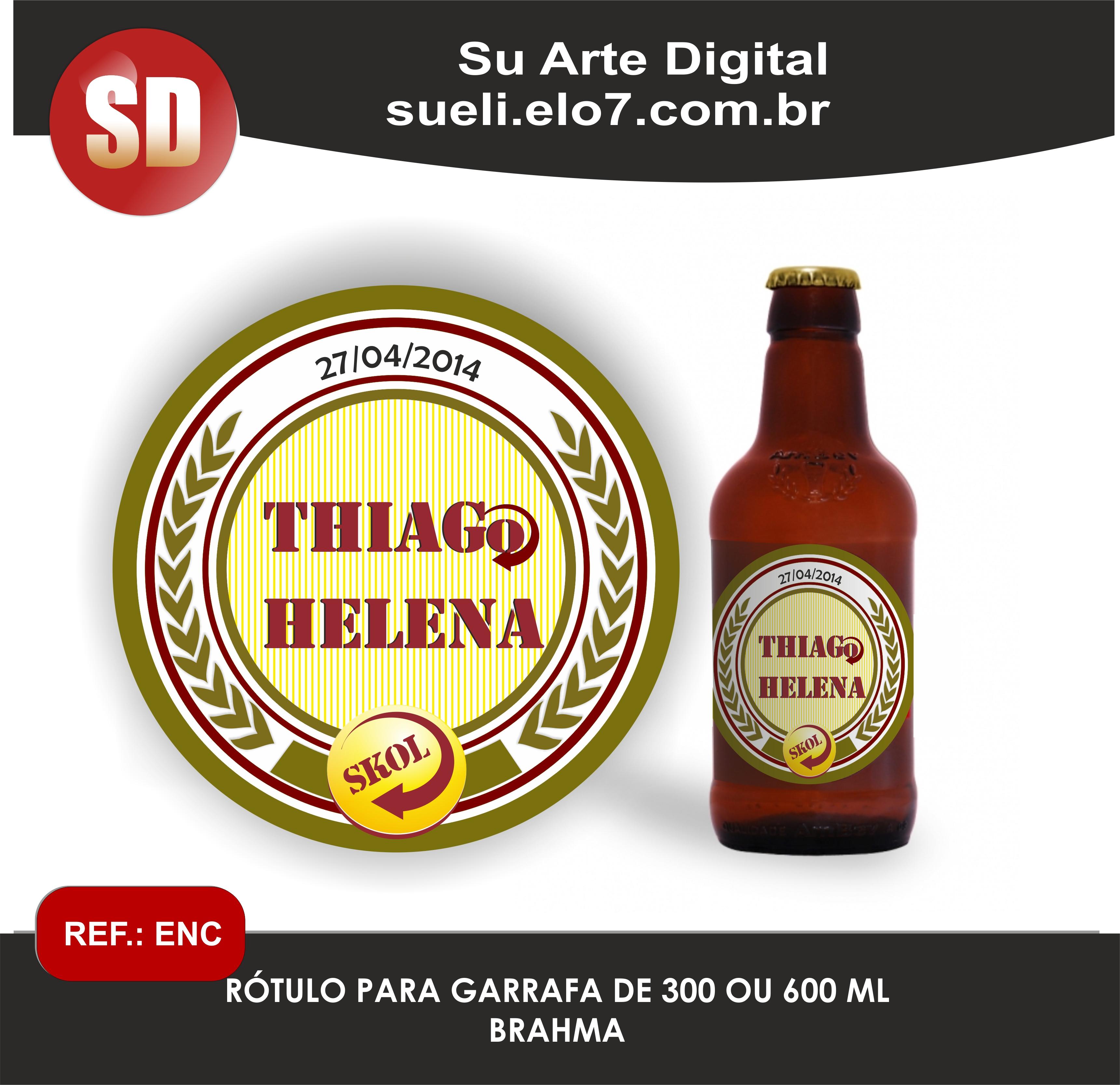 Fabuloso Rótulo Cerveja SKOL long neck no Elo7 | Loja Suarte (739F91) SY42