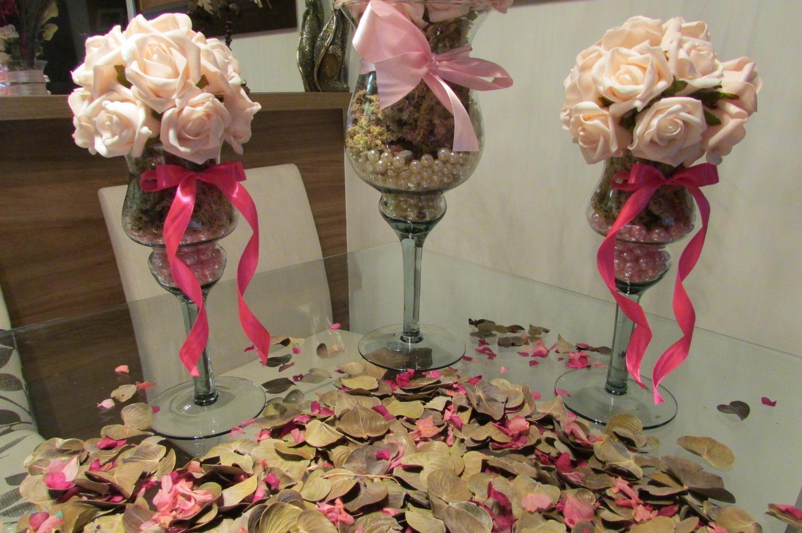 Enfeite De Taça ~ kit taça& mini taças bola de flores I Rosamorena Artes Florais Elo7