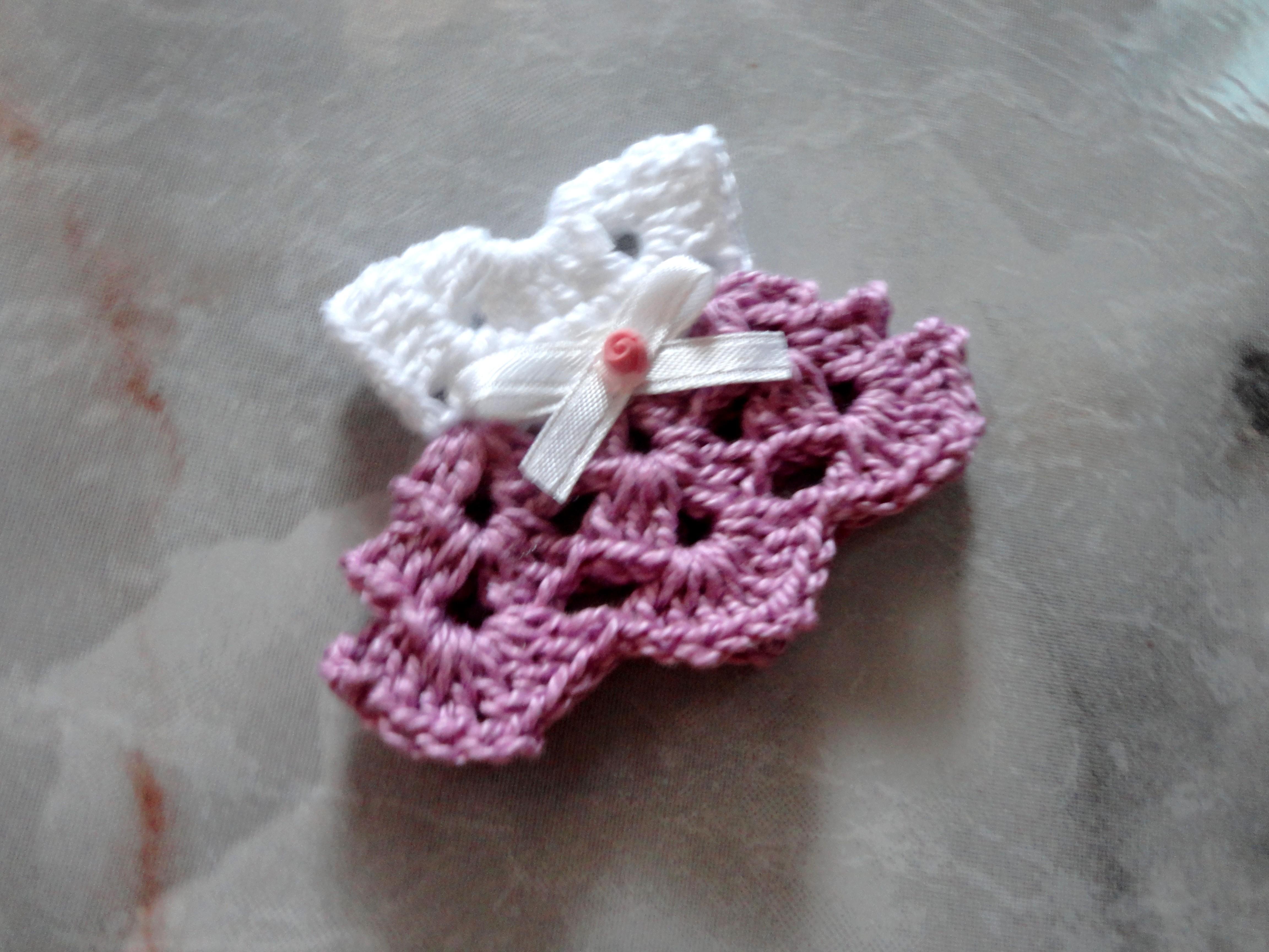 e14d56122 Lembrancinha Mini Vestido De Crochê no Elo7