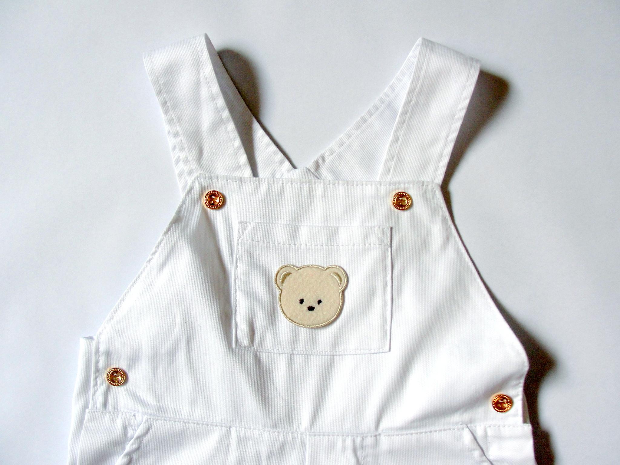 Jardineira branca batizado beb nateli baby bags elo7 for Jardineira bebe 1 ano