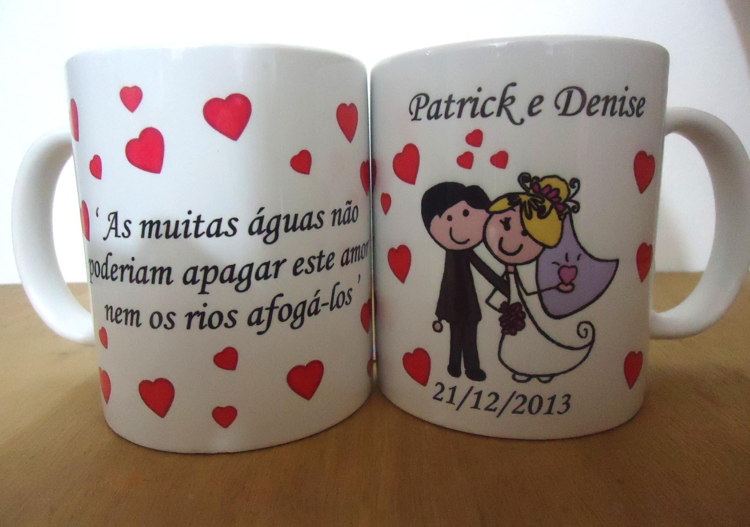 Bolsa De Lembrancinha De Casamento : Canecas personalizadas casamento lua atelie das estampas