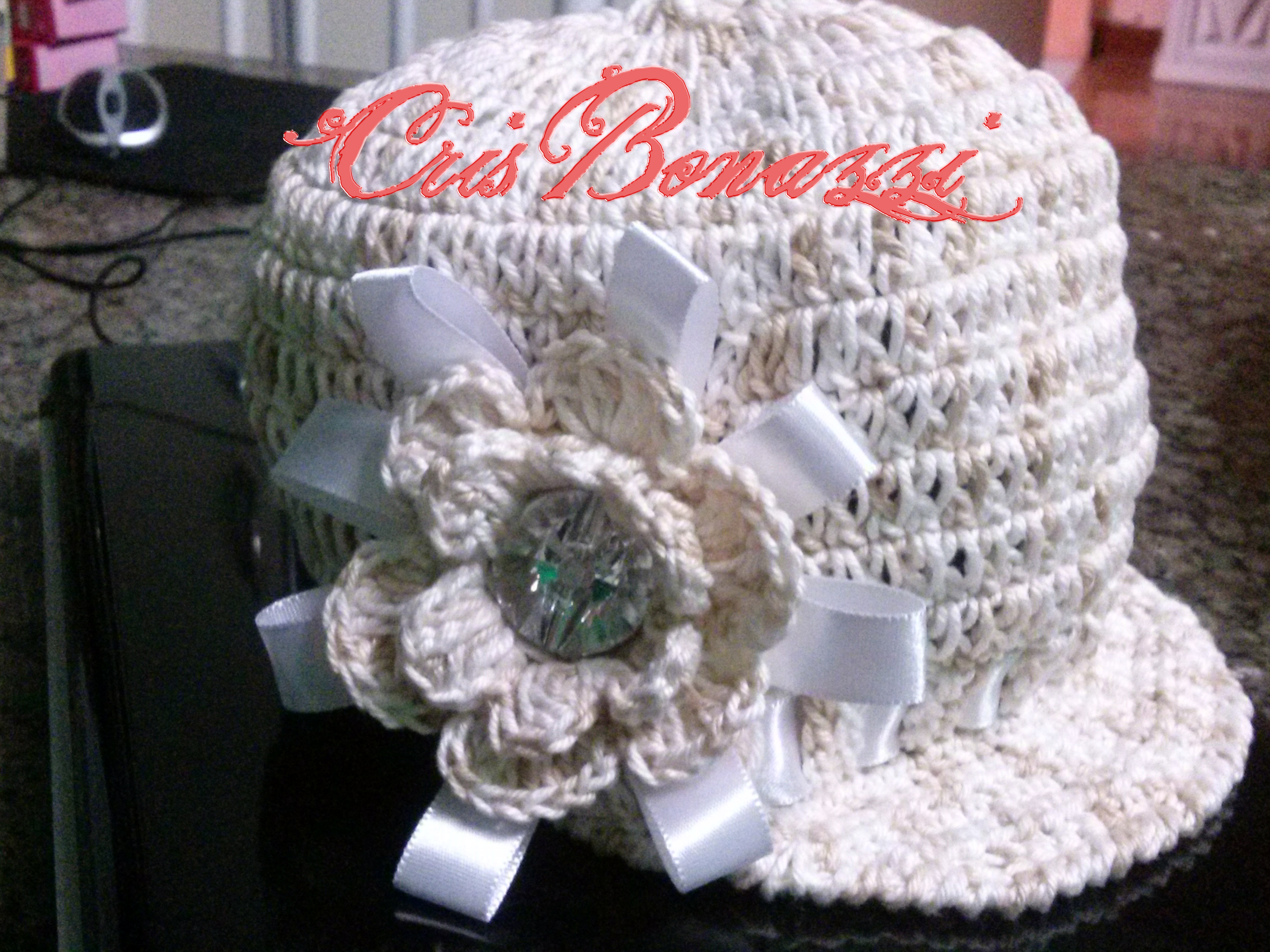 ccadfd84e7280 Bone em Croche Decorado