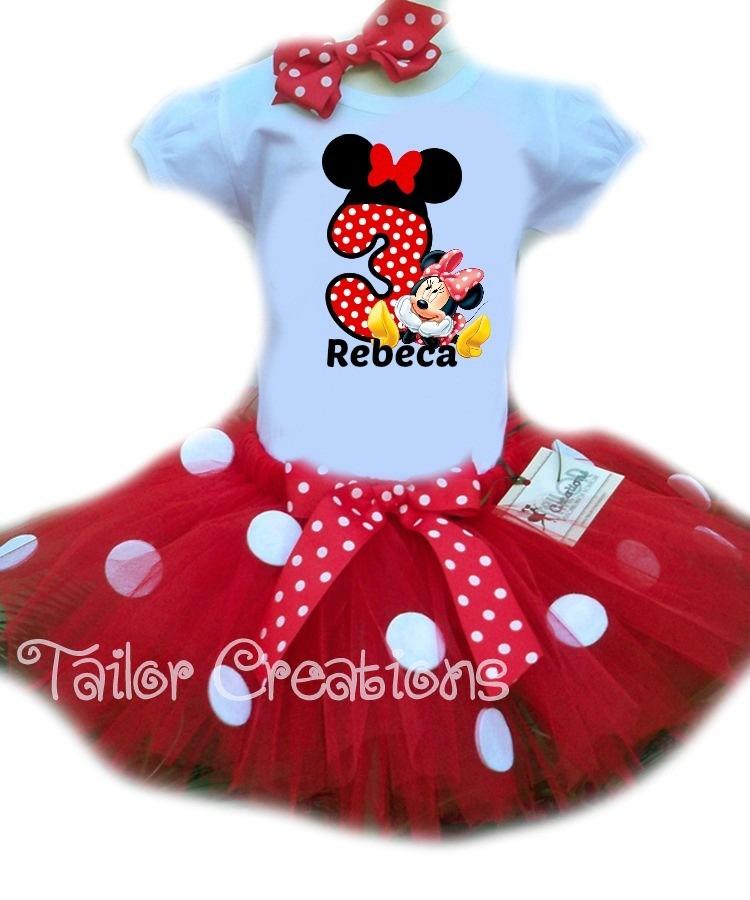 e6923670e8a Fantasia Minnie Vermelha no Elo7