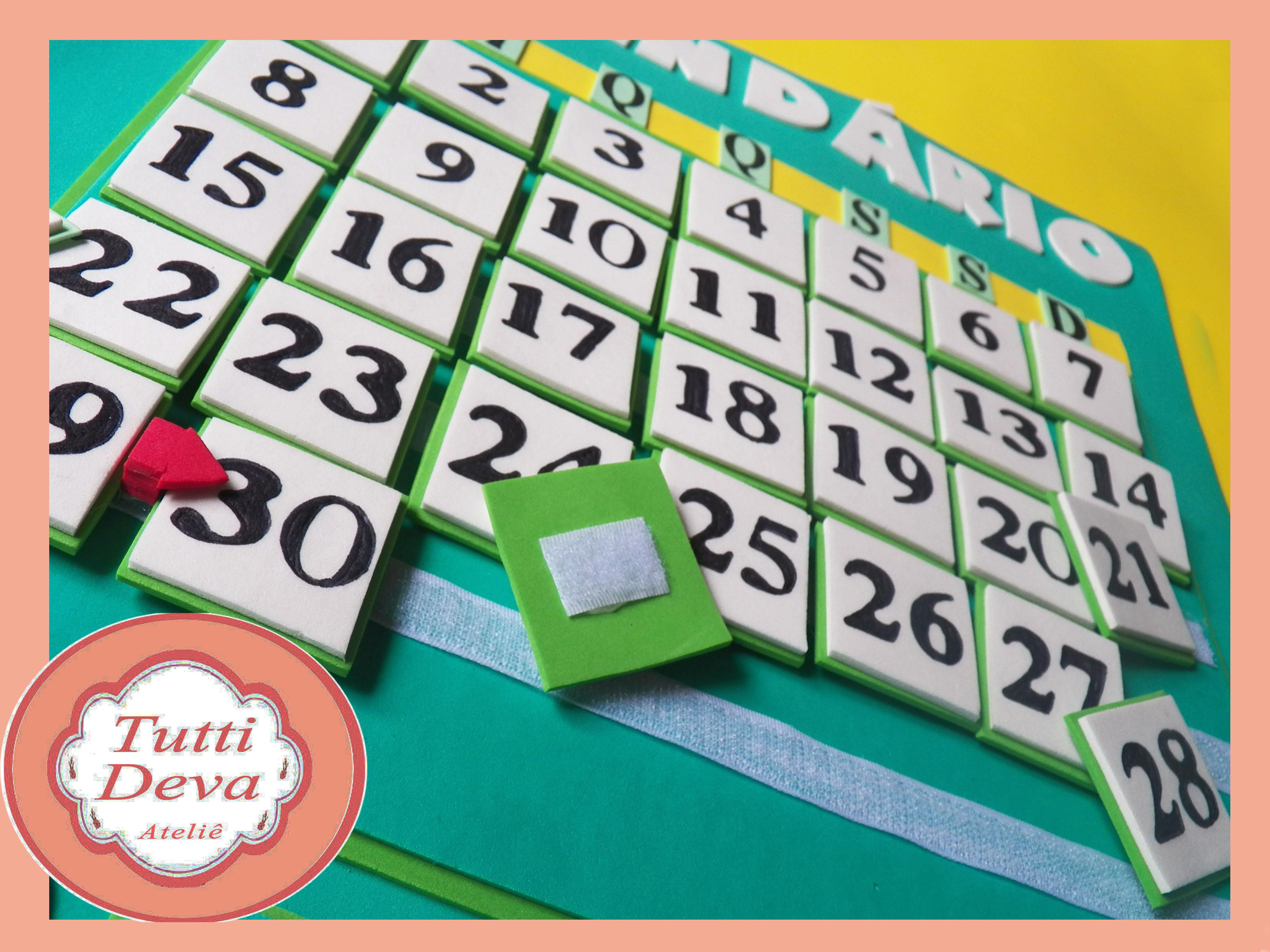 Super Calendário Permanente no Elo7 | Tutti Deva (3AAAEB) CW61