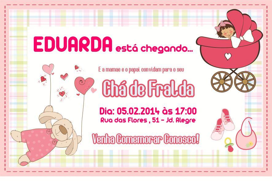 Conhecido Convite Digital Chá de Fralda no Elo7 | Personalize Produtos  PR19