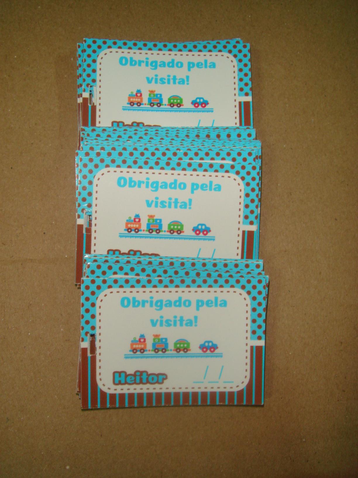 Cartão De Agradecimento Chá De Fraldas Elo7