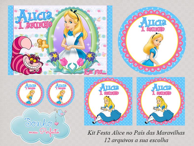 Extremamente Kit Digital Alice No Pais das Maravilhas   Elo7 JM48