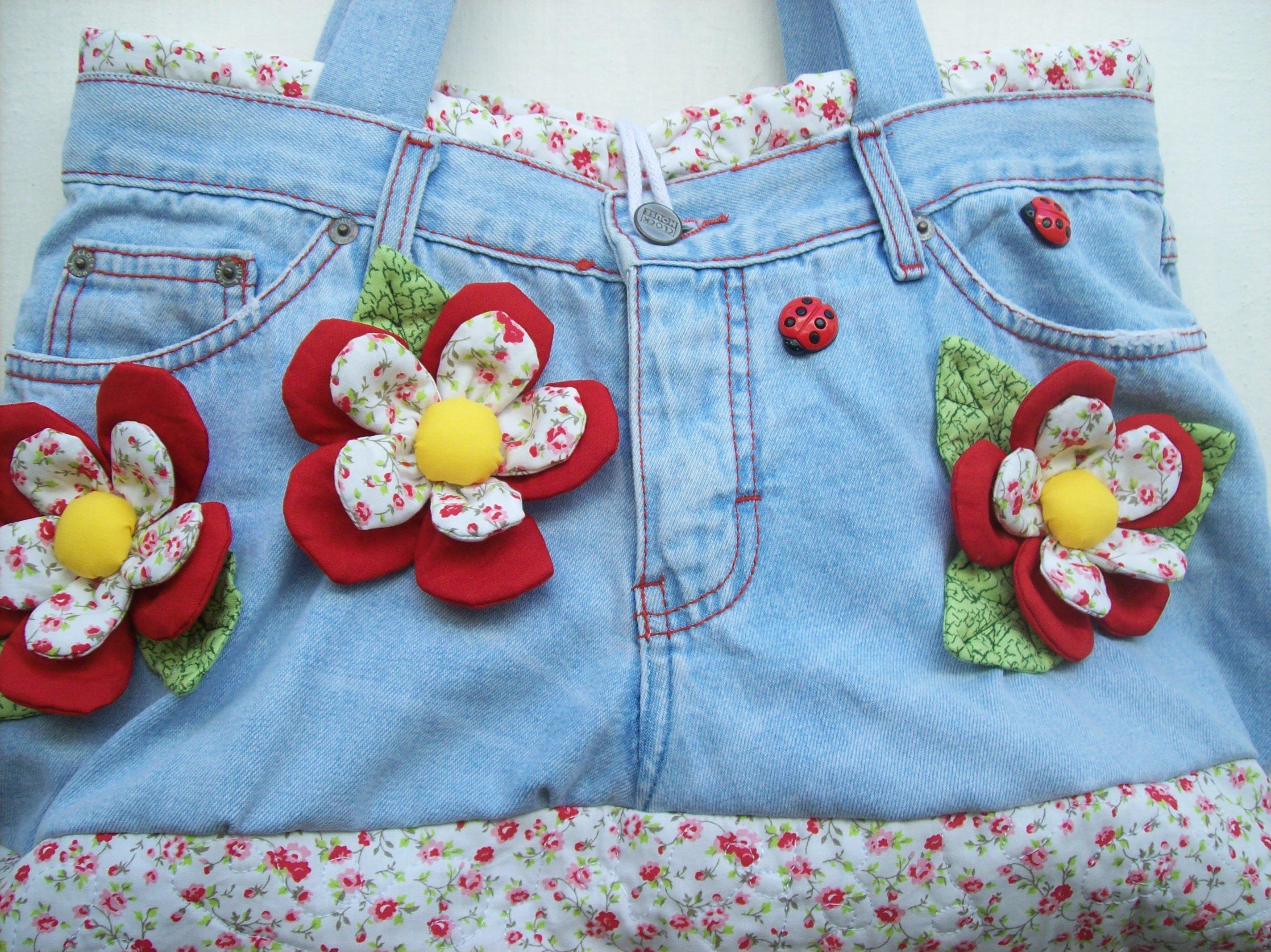 Bolsa Jeans Flowers