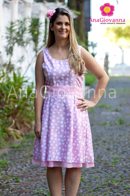 ecd0ef5524 Vestido Adulto Minnie Rosa Alca Unica