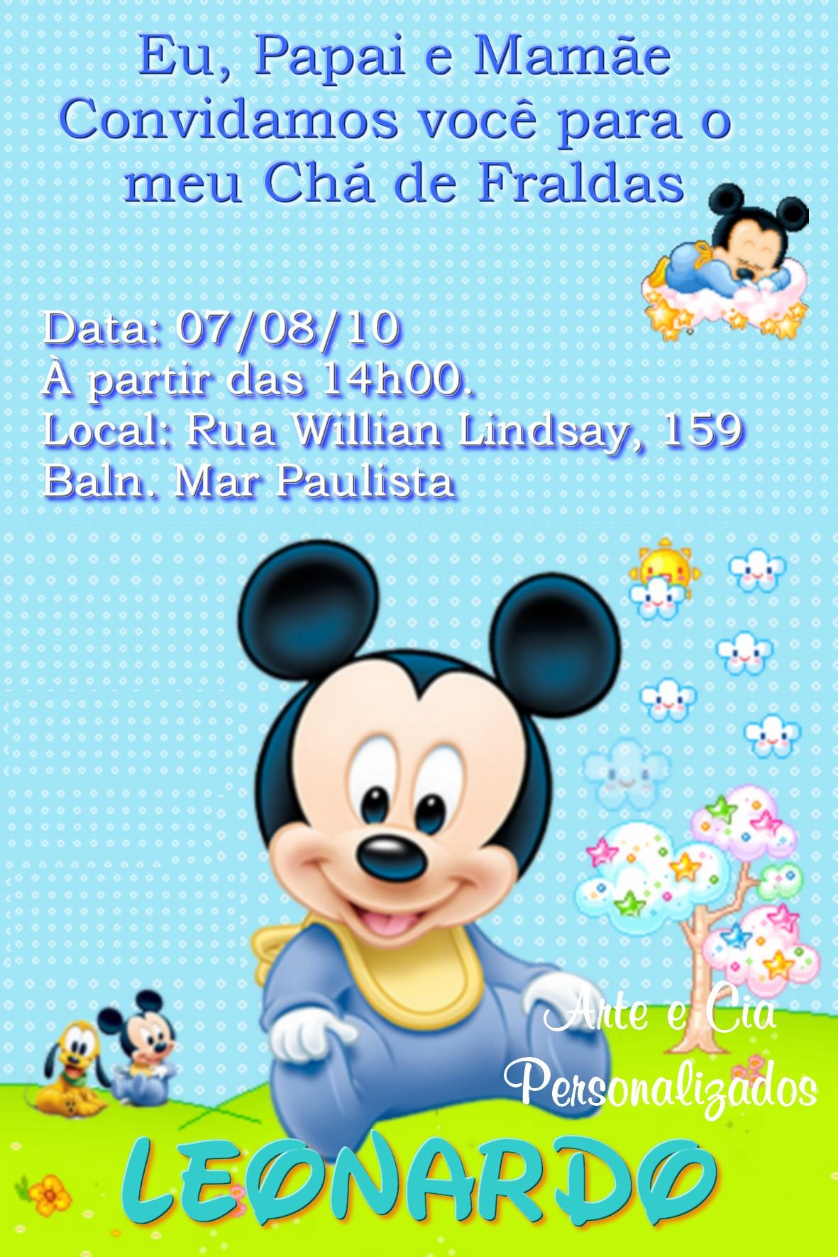 a786355be Chá De Bebê - Mickey - 2 no Elo7