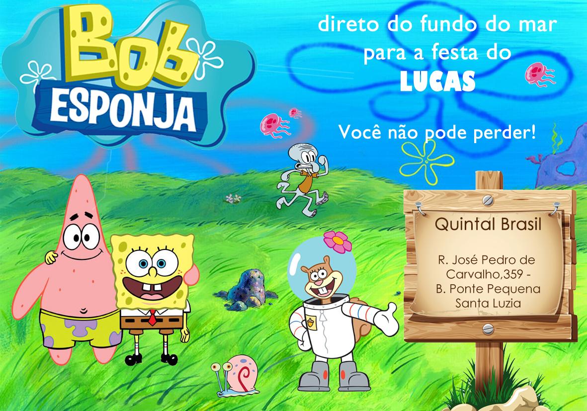Convite Aniversário Bob Esponja No Elo7 Ateliê Officina Imaginatio