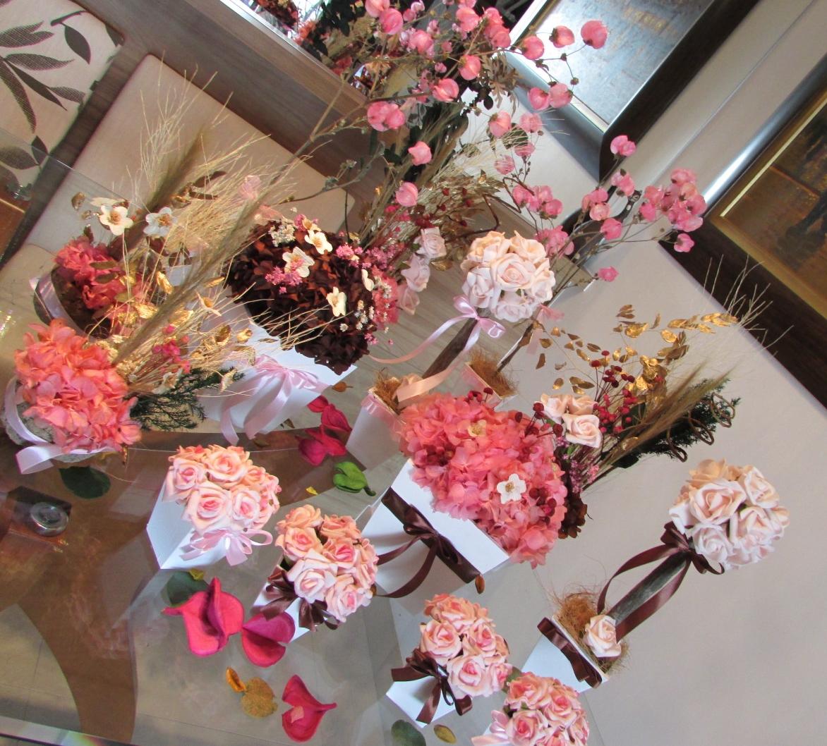 Kit festa flores secas rosa& marrom IX Rosamorena Artes Florais Elo7 # Decoração De Flores Festa