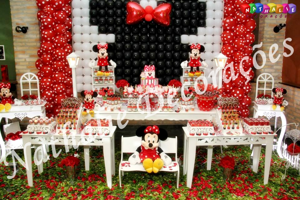 decoracaoprovencalminnievermelhatopdecoracaofestainfantil