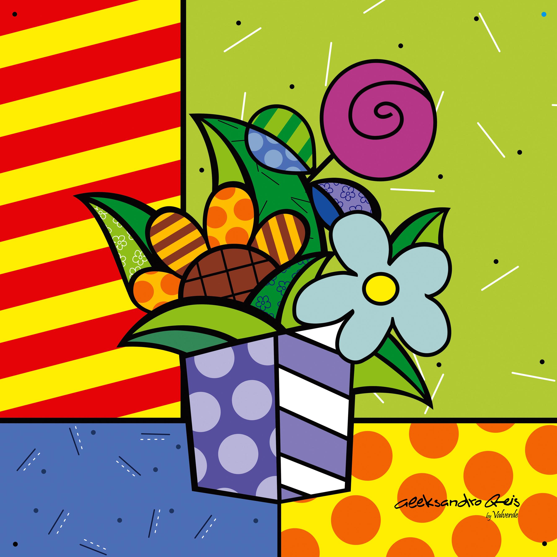 Quadro Pop Art My Flower 30 X 30 No Elo7 Visite Nossa Loja