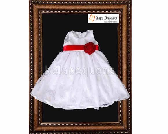 b5bf41b81d Vestido Infantil Branco de Renda no Elo7