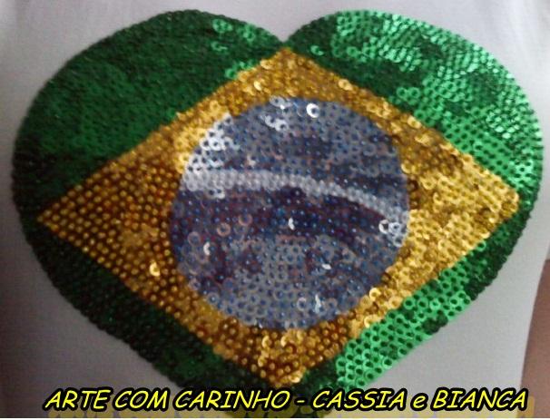 6cb62f83d6 Camisetas Cores da Bandeira do Brasil