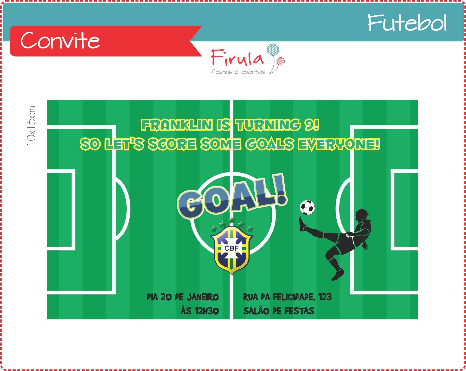 Convite De Futebol Elo7