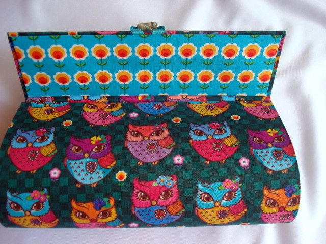 1f524a21a1438 Porta Óculos de Sol Corujas Fashion no Elo7