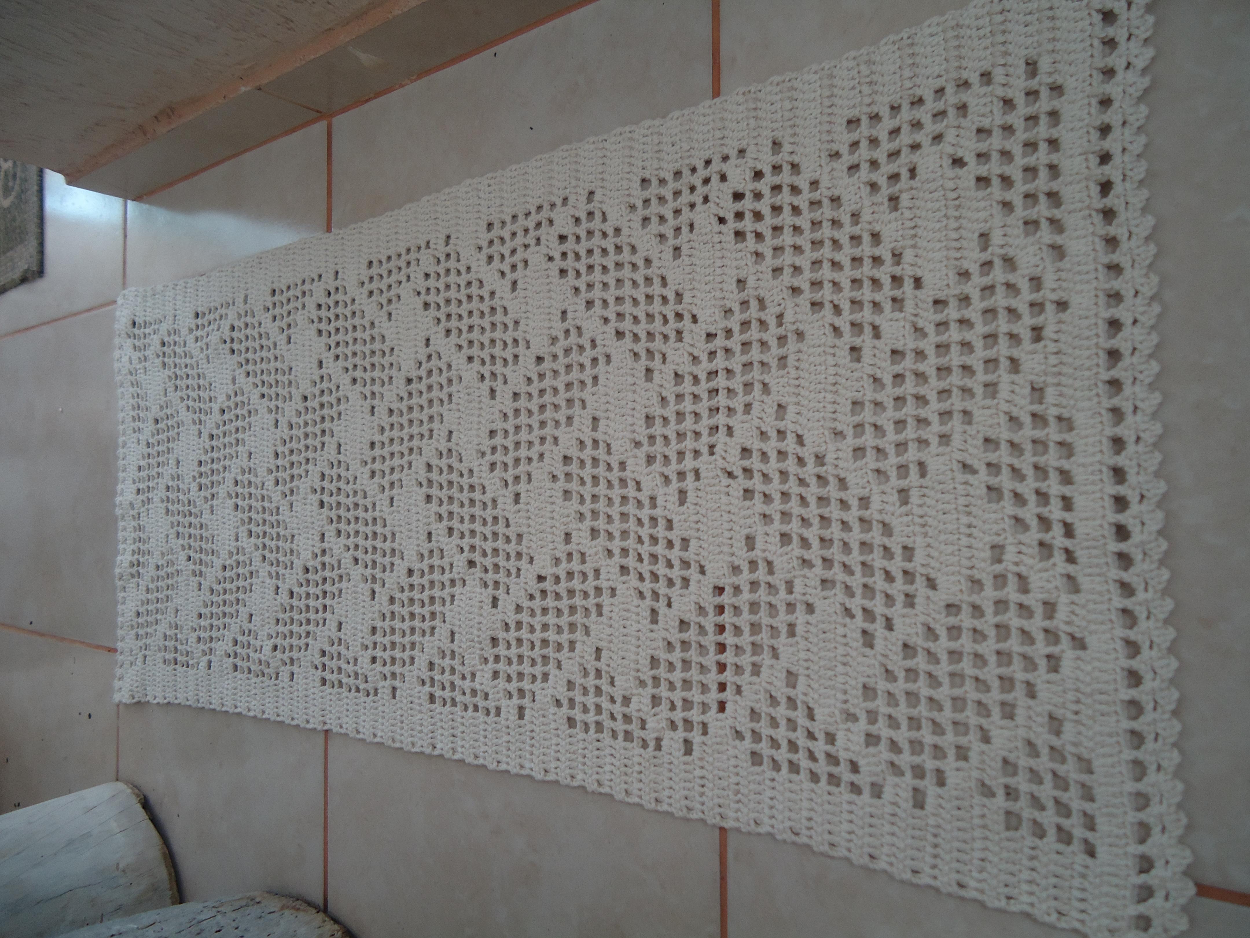Famosos Passadeira em Croche   Crochet no Ponto   Elo7 AQ96