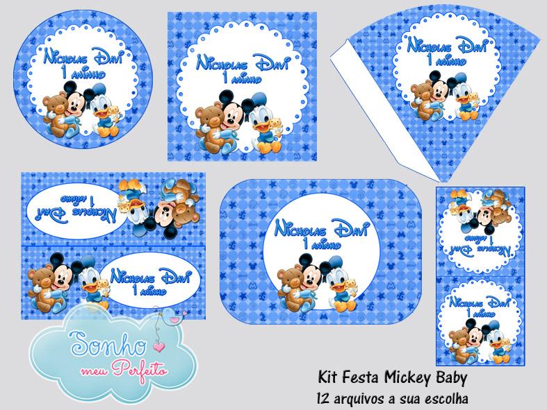 Kit Digital Mickey Baby No Elo7 Sonho Meu Perfeito 3c9803