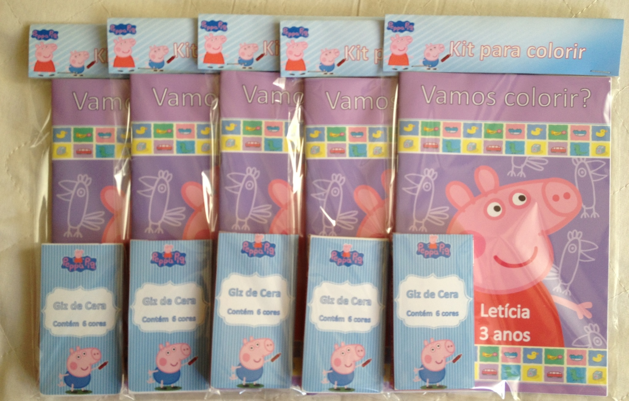 Kit Para Colorir Peppa Pig No Elo7 Le Jotave Personalizados 3cd8b4