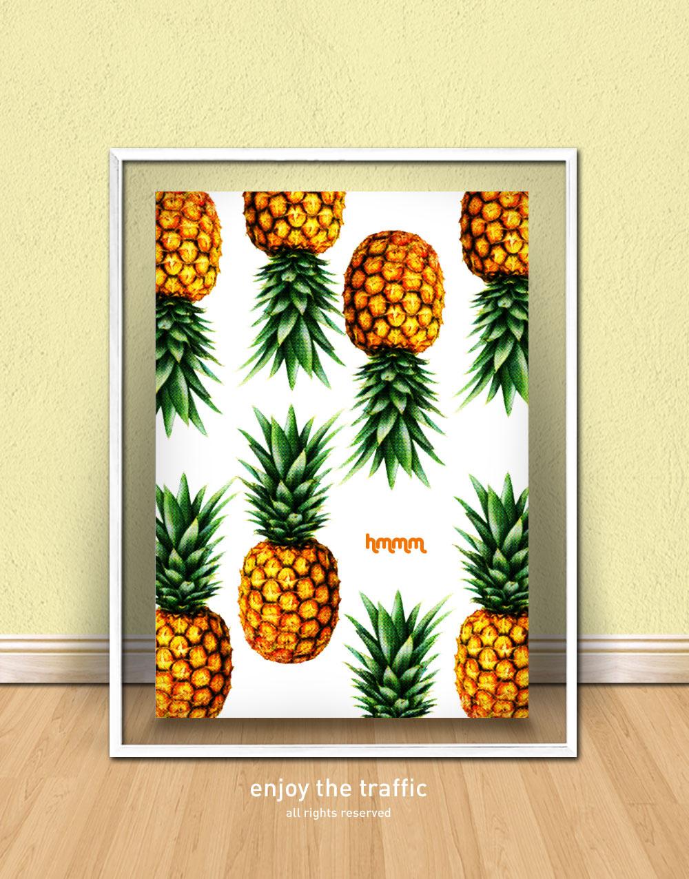 Posters Decorativos Poster Le Ballon B Vinilos Decorativos  ~ Imagens Para Quadros De Quarto Para Imprimir Abacaxi