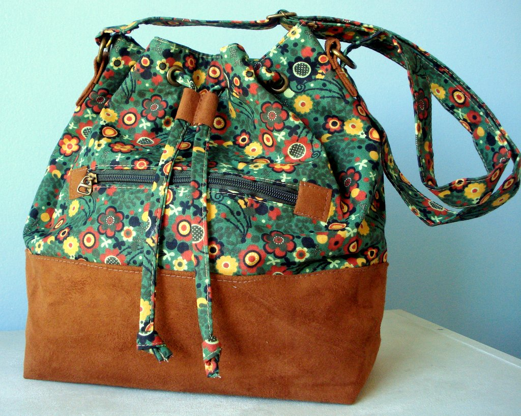 f662d4292b5b9 Bolsa Bucket Floral no Elo7