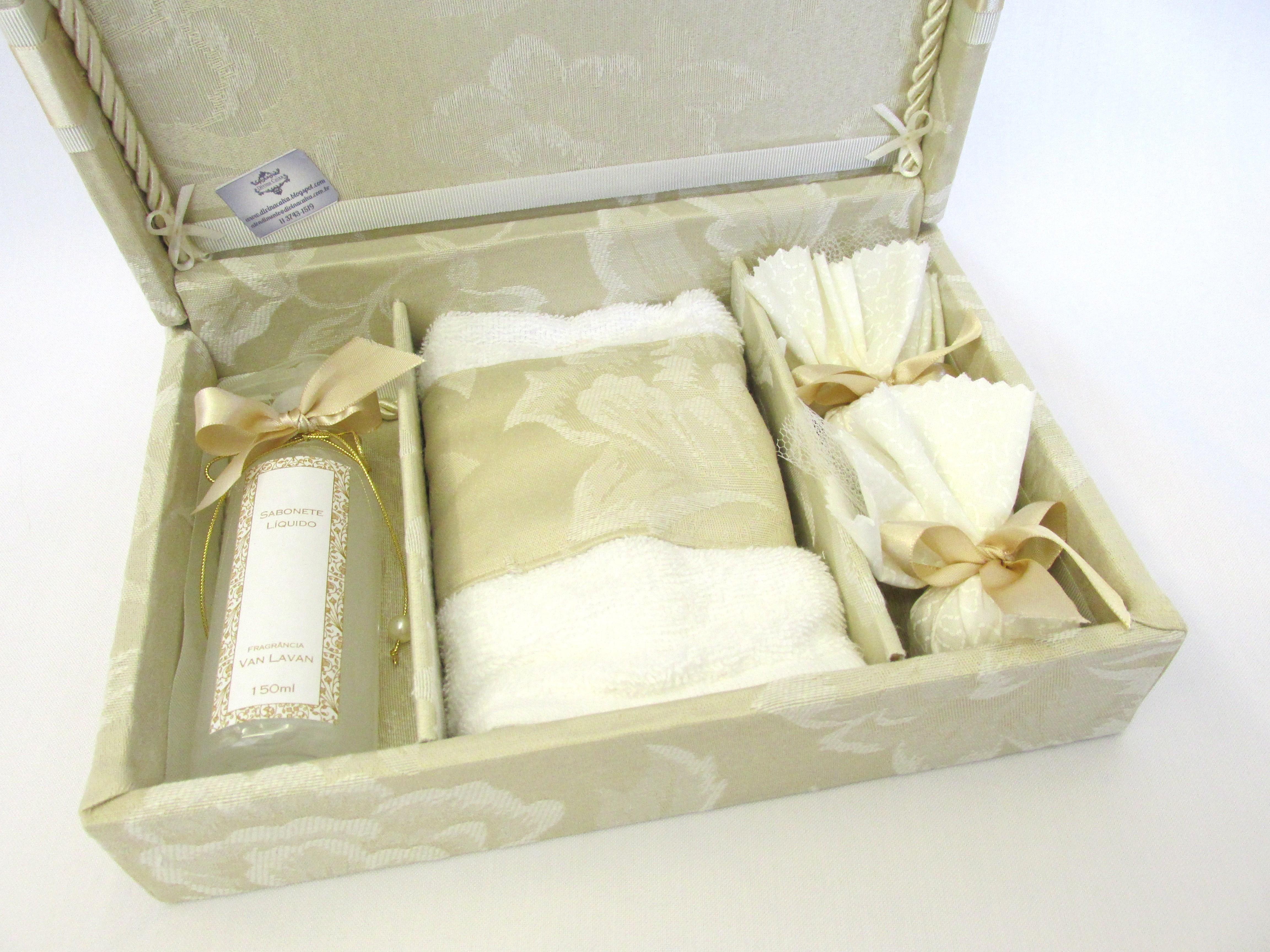 caixa kit lavabo lembranca padrinhos kit #8E793D 4608 3456