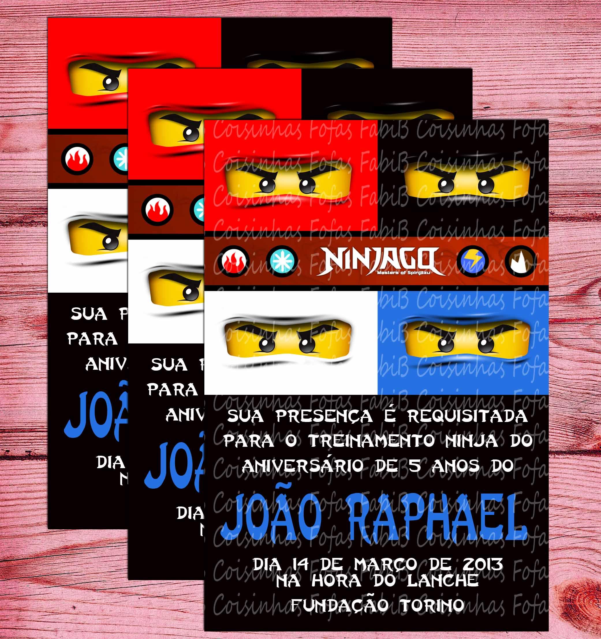 Convite Ninjago No Elo7 Coisinhas Fofas 3d3238