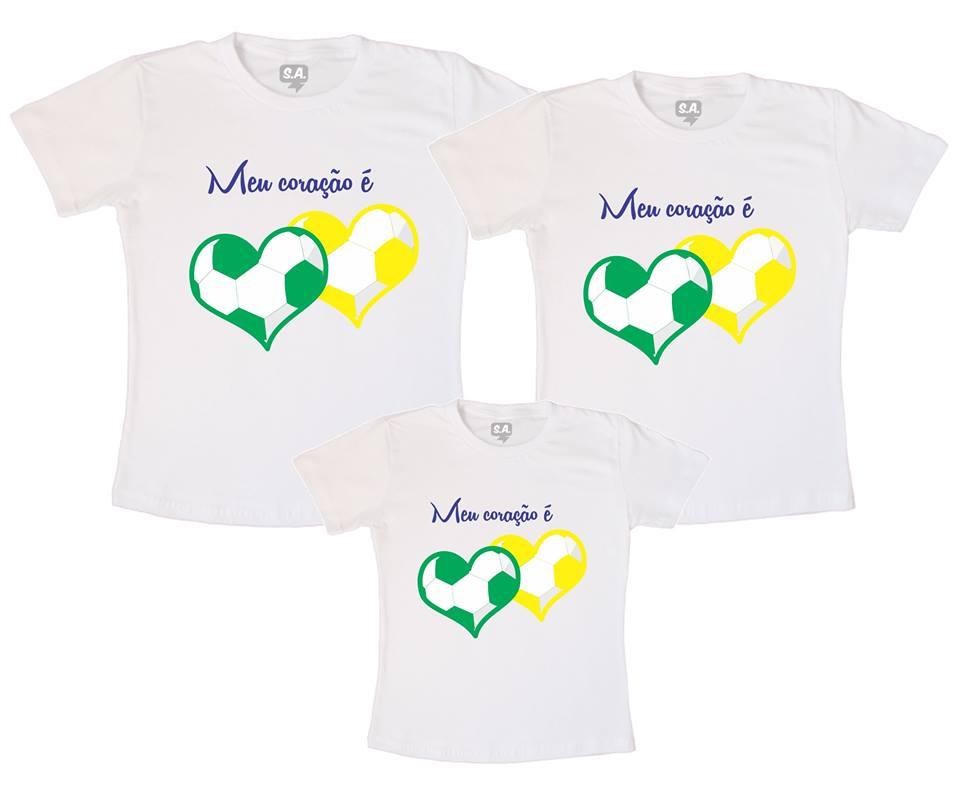 Camiseta Verde Coracao de Boleiro  df2bc1c62e83f