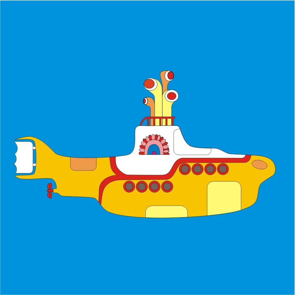 Aparador De Inox Para Cozinha ~ Adesivo Yellow Submarine DECOROU ADESIVOS DECORATIVOS Elo7