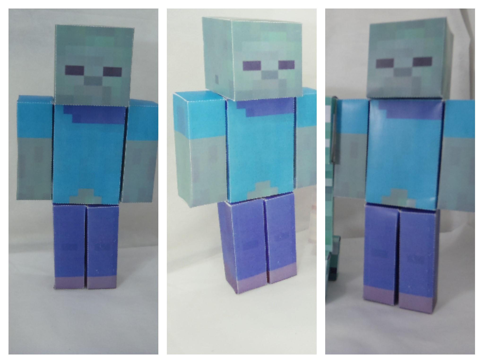 boneco zumbi minecraft de papel no elo7 chocoláteleitemorango