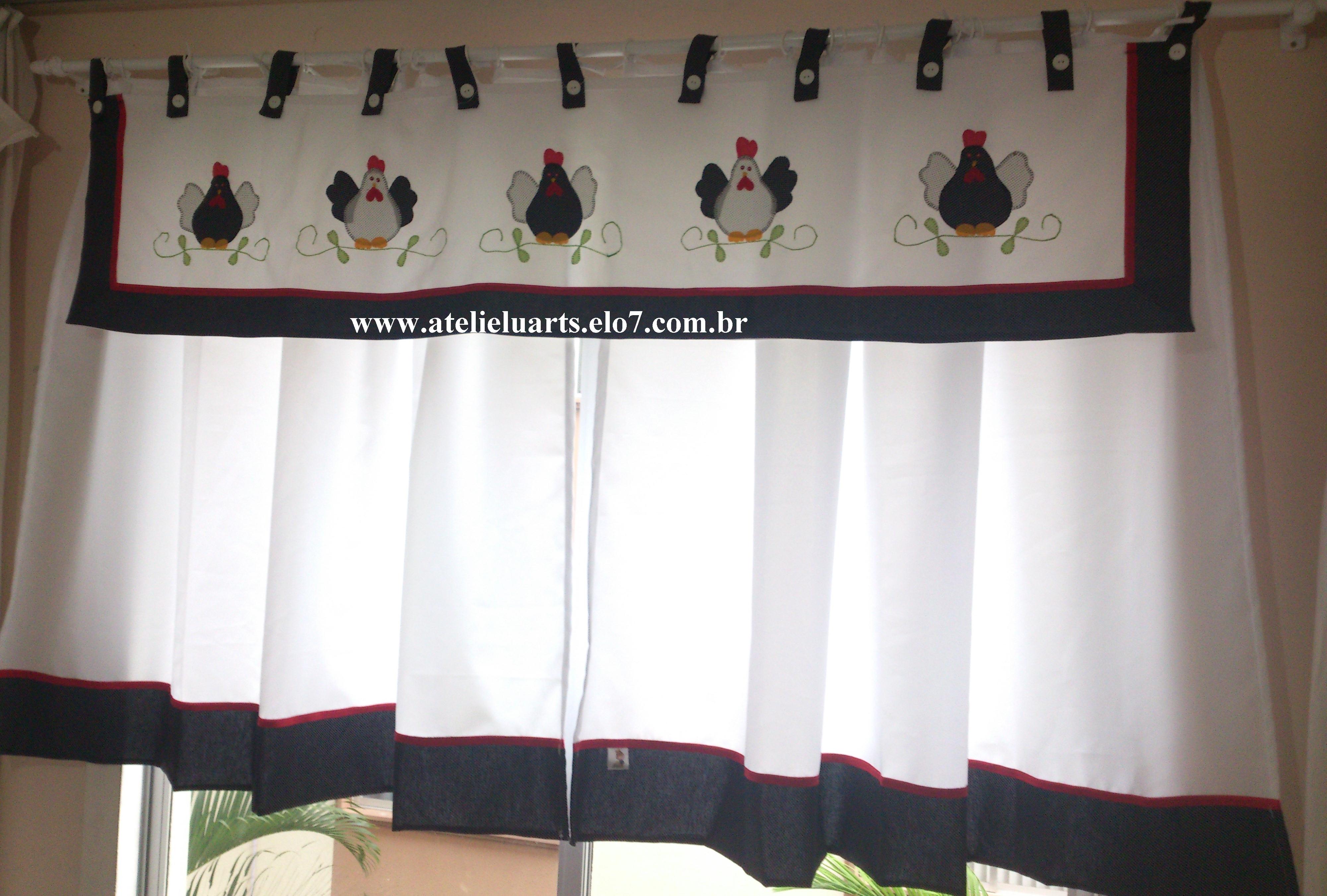 Image of: Cortina E Bando Para Cozinha No Elo7 Atelie Luarts 3db992
