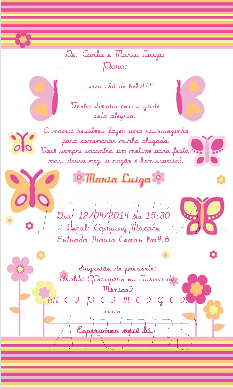 Arte Digital Convite Borboletas No Elo7 Luliza Artes E Doces 3ddcca