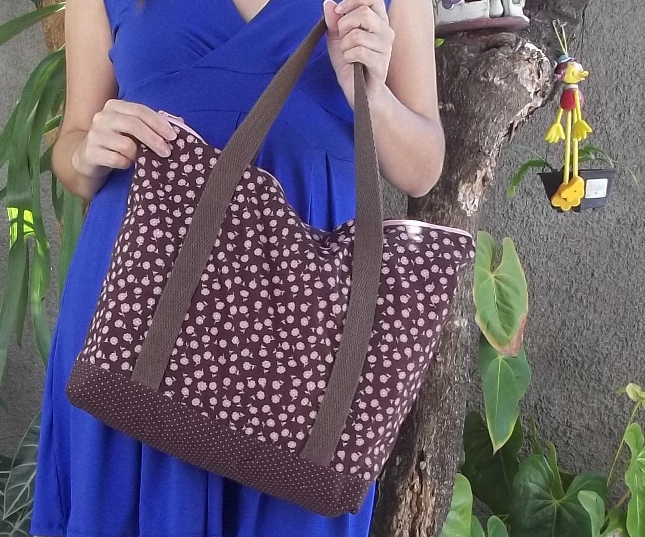 Bolsa De Tecido Com Perola : Bolsa de tecido com z?per objetos especiais elo