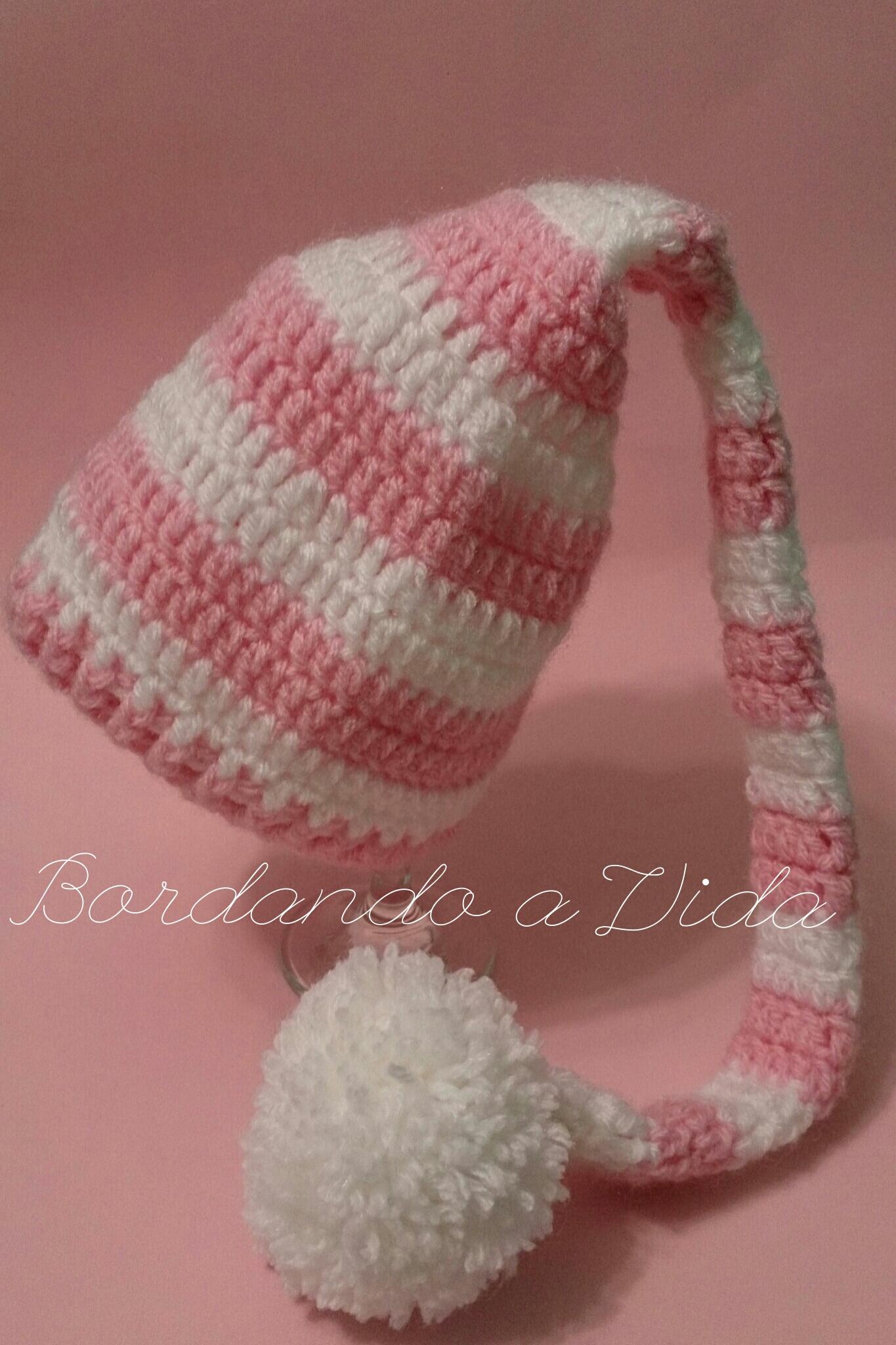 Gorro Camponesa Rosa Newborn  2c2d240f59b