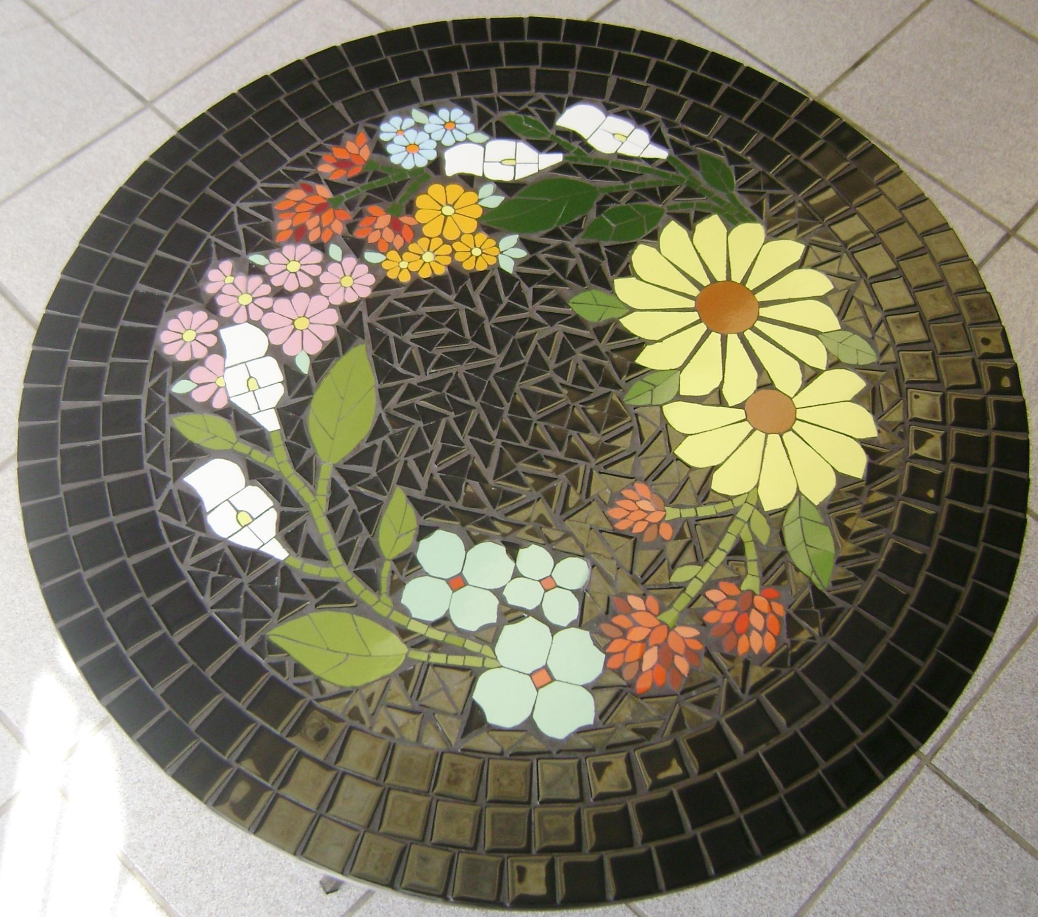 Tampo de mesa em mosaico morena brasil mosaico elo7 for Mesas de mosaico