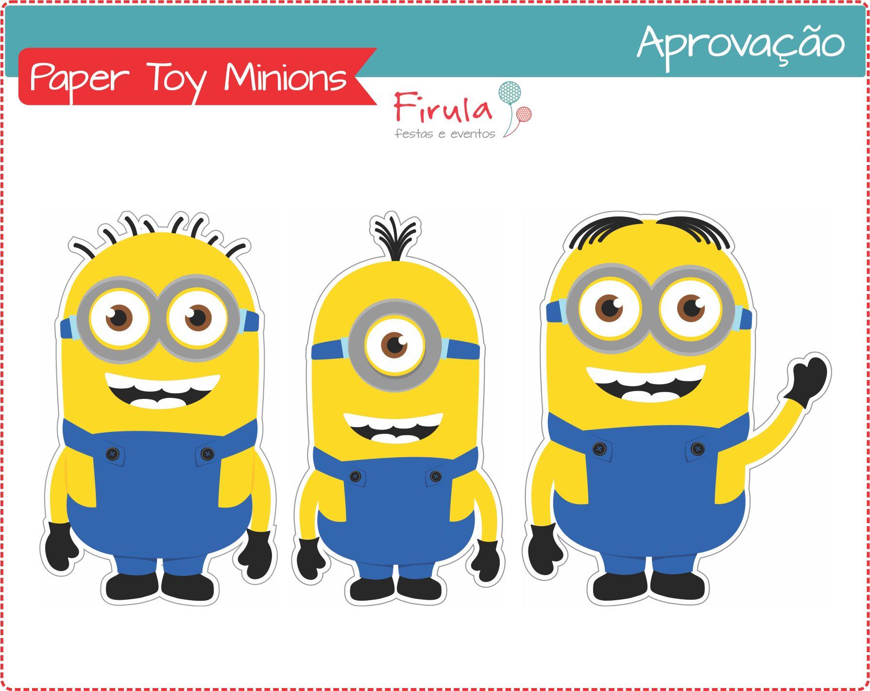 Paper Toy Digital Minions | Firula Festas | Elo7