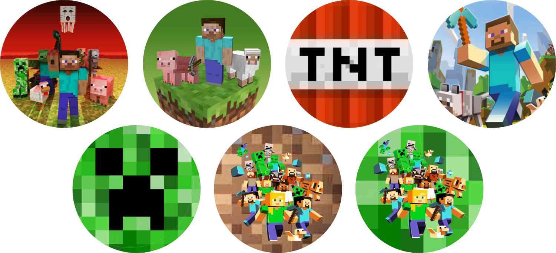 Letras Minegraft Fazendo A Nossa Festa: Minecraft 15 Adesivos