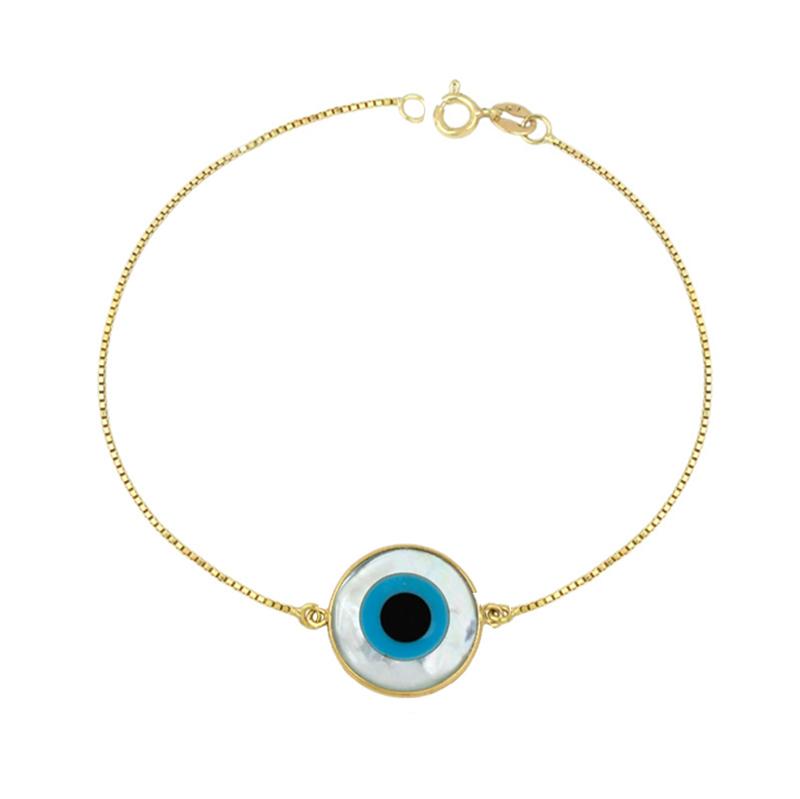 729b8df820204 Pulseira olho grego - ouro no Elo7