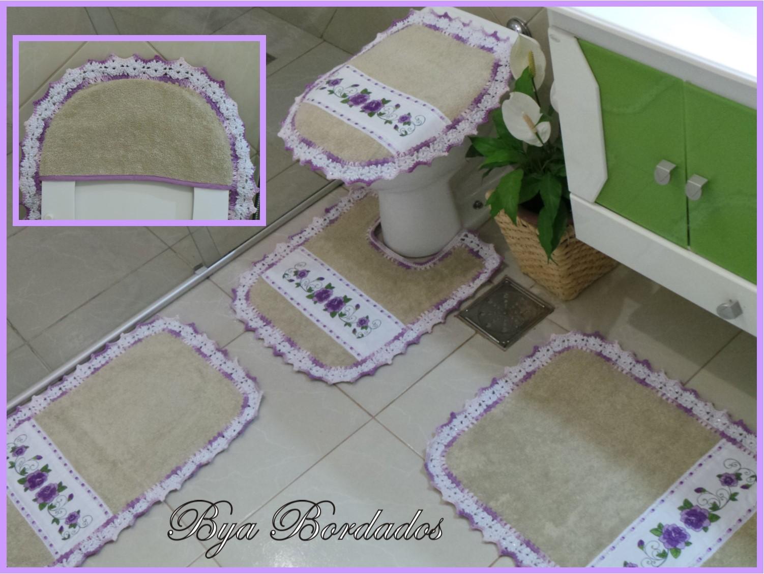 jogo tapete banheiro atoalhado jogo banheiro atoalhado #6F12B9 1502 1130
