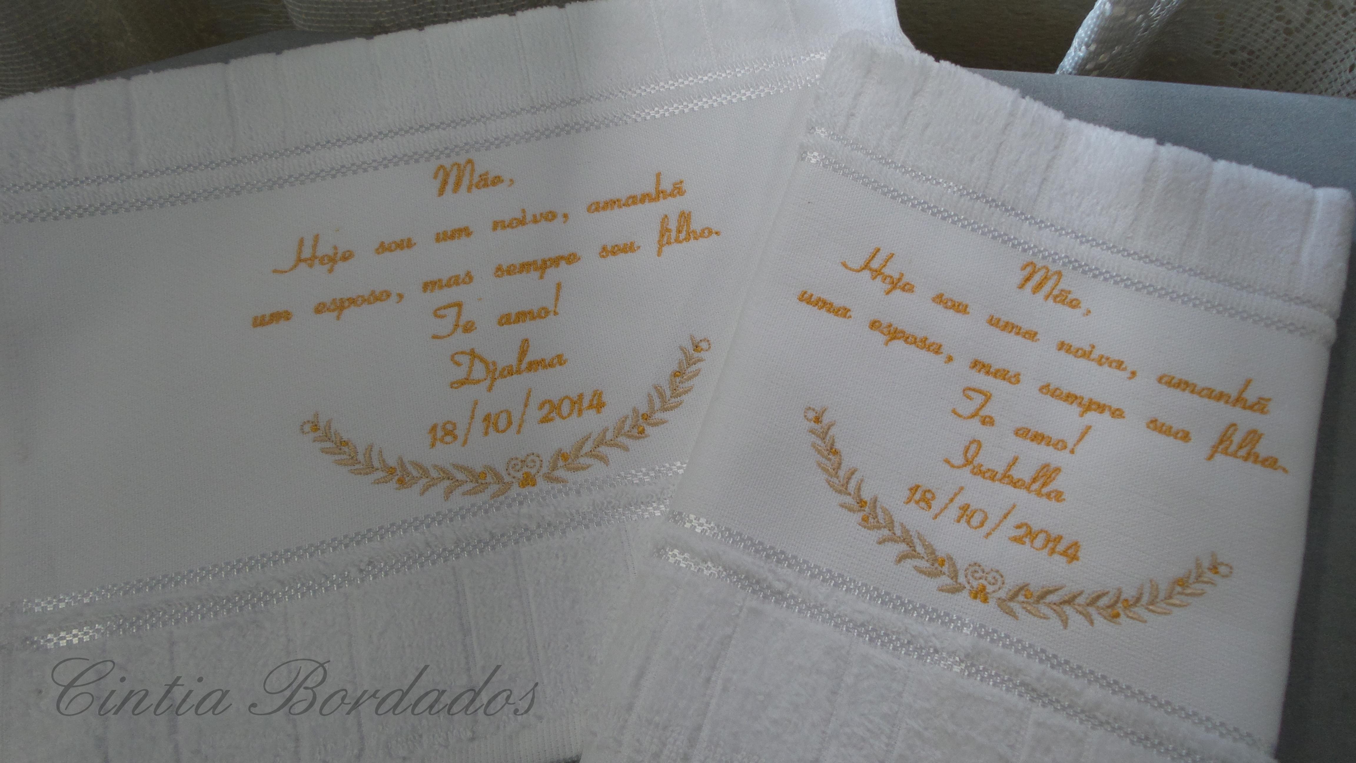 Mensagem Para Os Pais Toalha Bordada No Elo7 Cintia Bordados