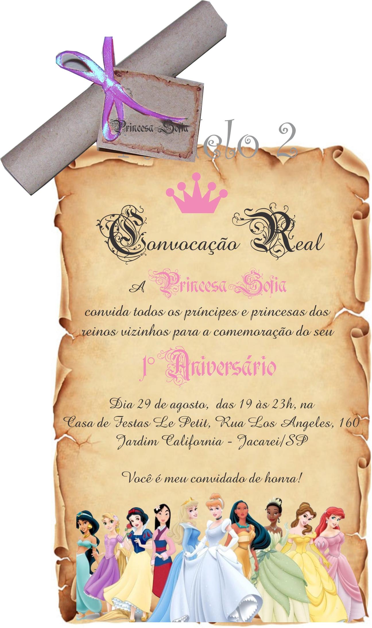 Convite Princesas Disney No Elo7 Andrews Convites E