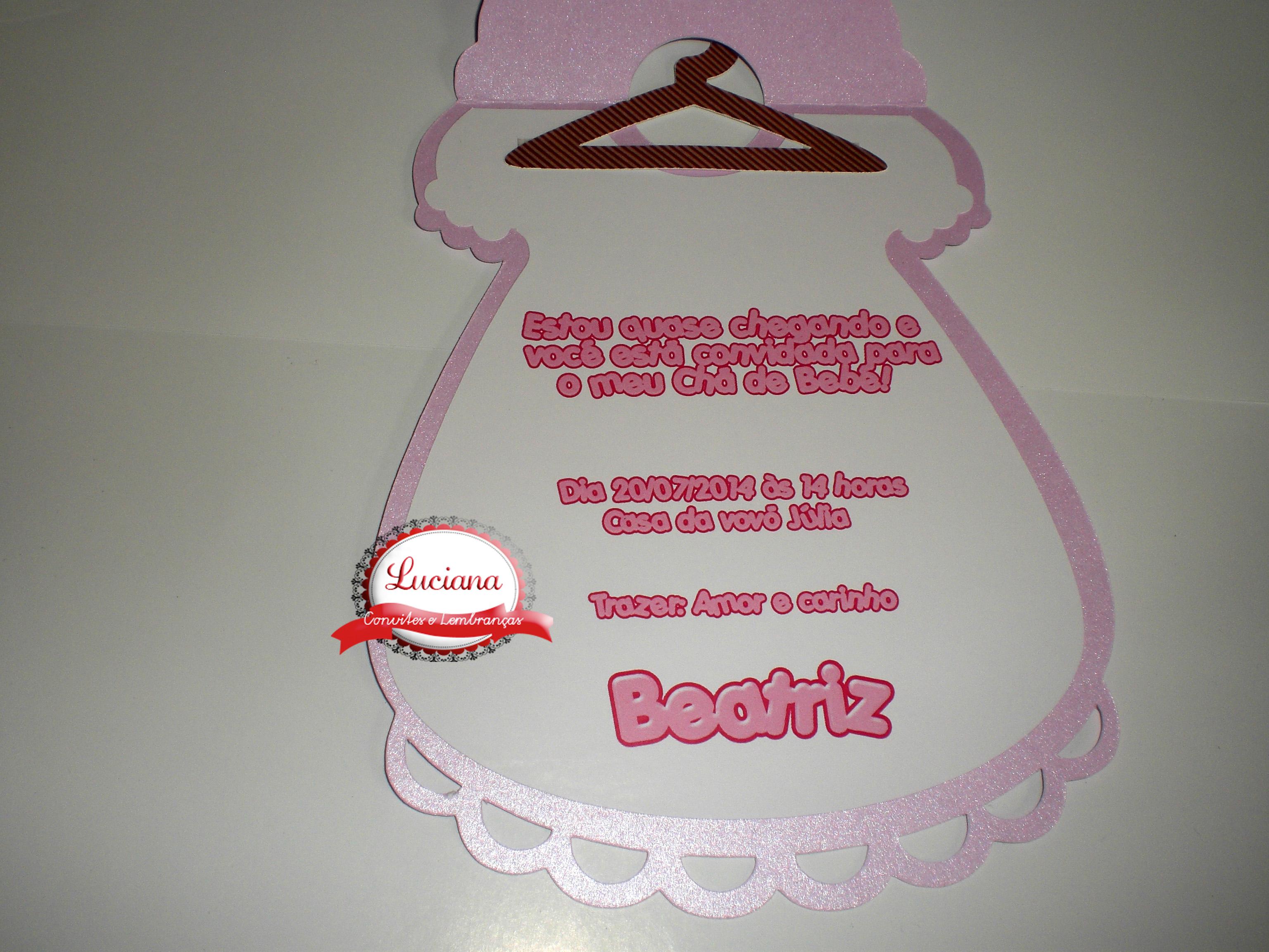 Promoçãoconvite Vestido Chá De Bebê No Elo7 Luciana Convites 3f8004