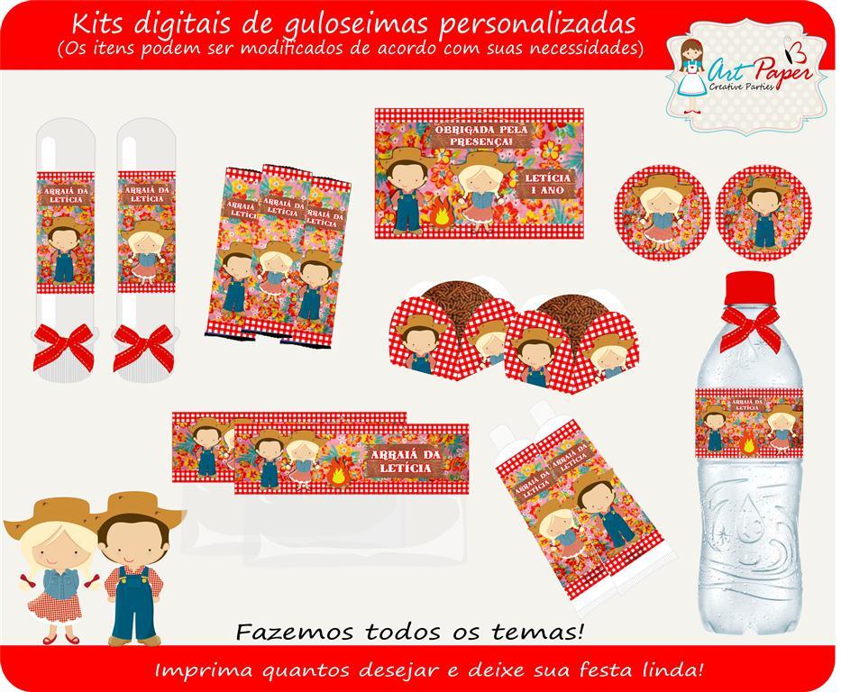 Kit De Guloseimas Festa Junina Digital No Elo7 Art Paper