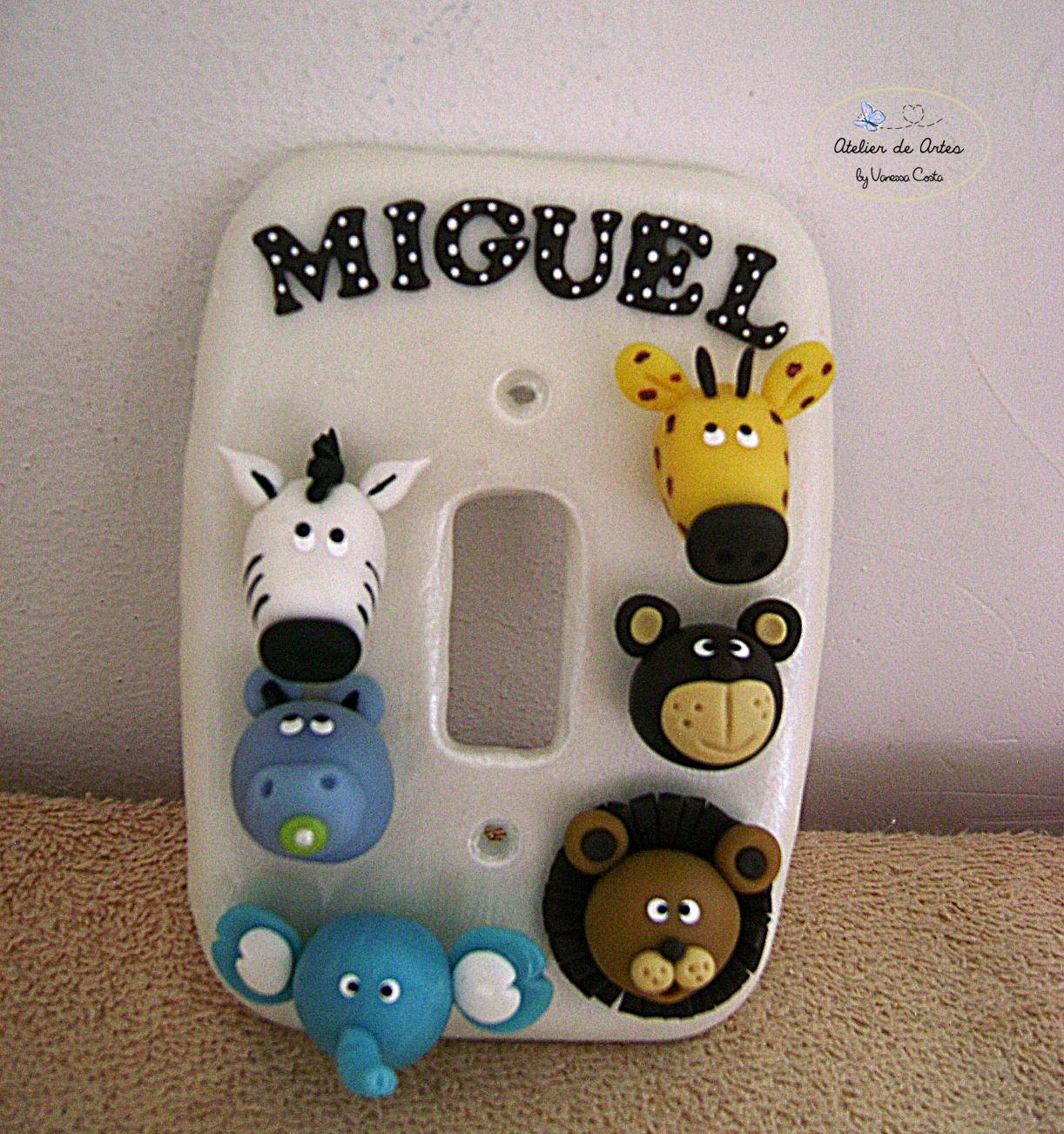 Espelho De Tomada Em Biscuit Safari Atelier De Artes By  ~ Espelho Para Quarto Infantil E Quarto De Bebe Cavalinho