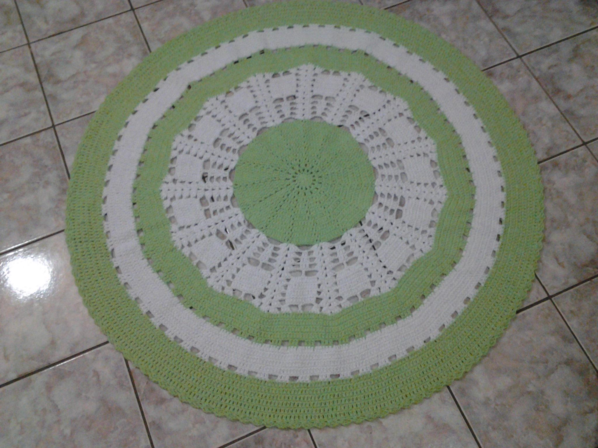 Tapete Redondo De 1 20 Mt No Elo7 Kapricho Artes Crocheteria Da
