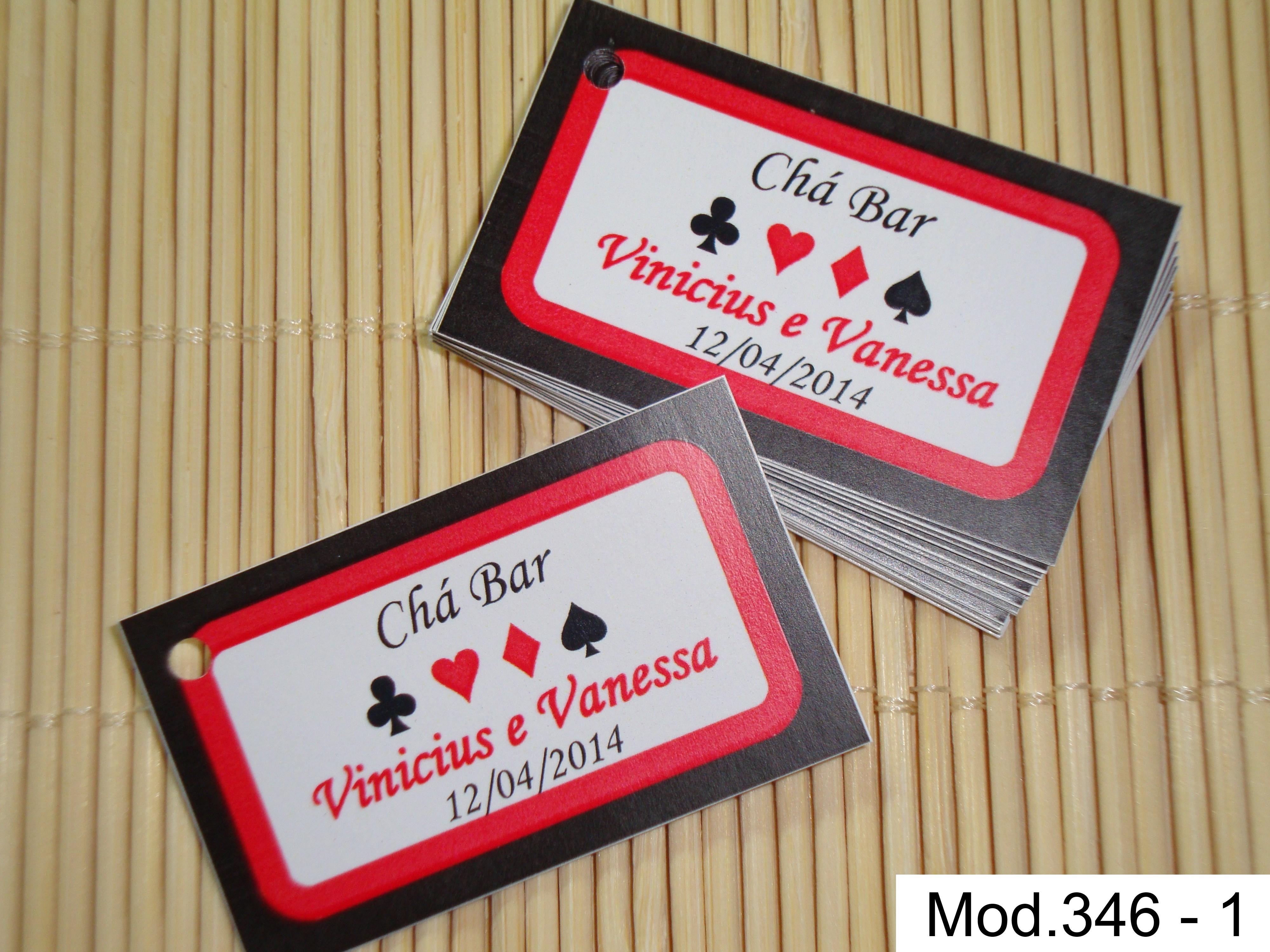 Tag Cartão Lembrancinha Chá Bar Naipes No Elo7 Tags Criativos 4030b0