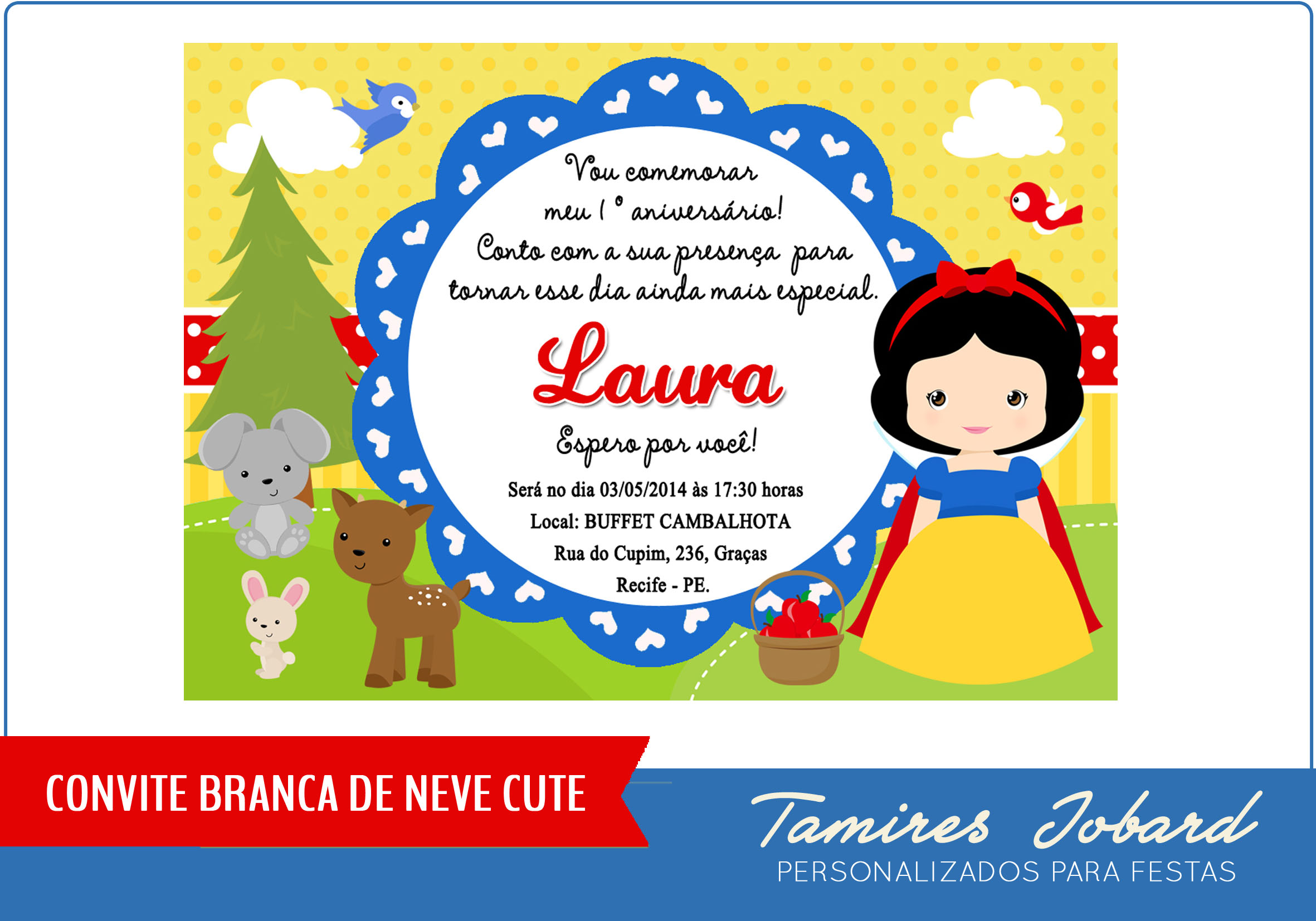 Convite Branca De Neve Ii No Elo7 Creative Paper Por Tamires