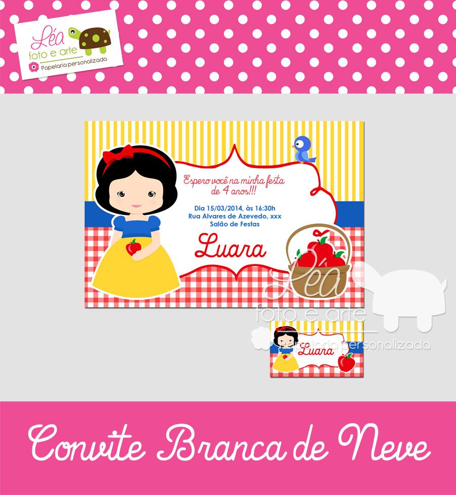 Convite Branca De Neve Elo7